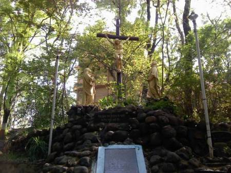 Jesus on Cross at Grotto, Nagpur.