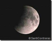 The lunar eclipse this evening